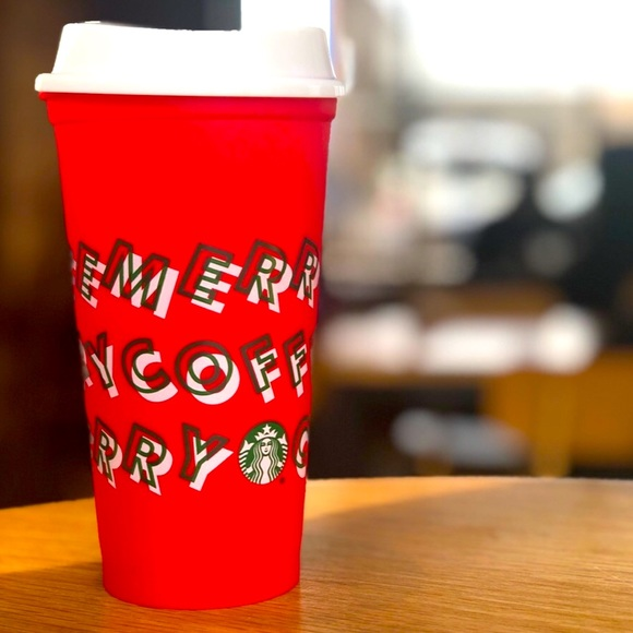 STARBUCKS REUSABLE HOT CUP MERRY COFFEE 2019 NEW